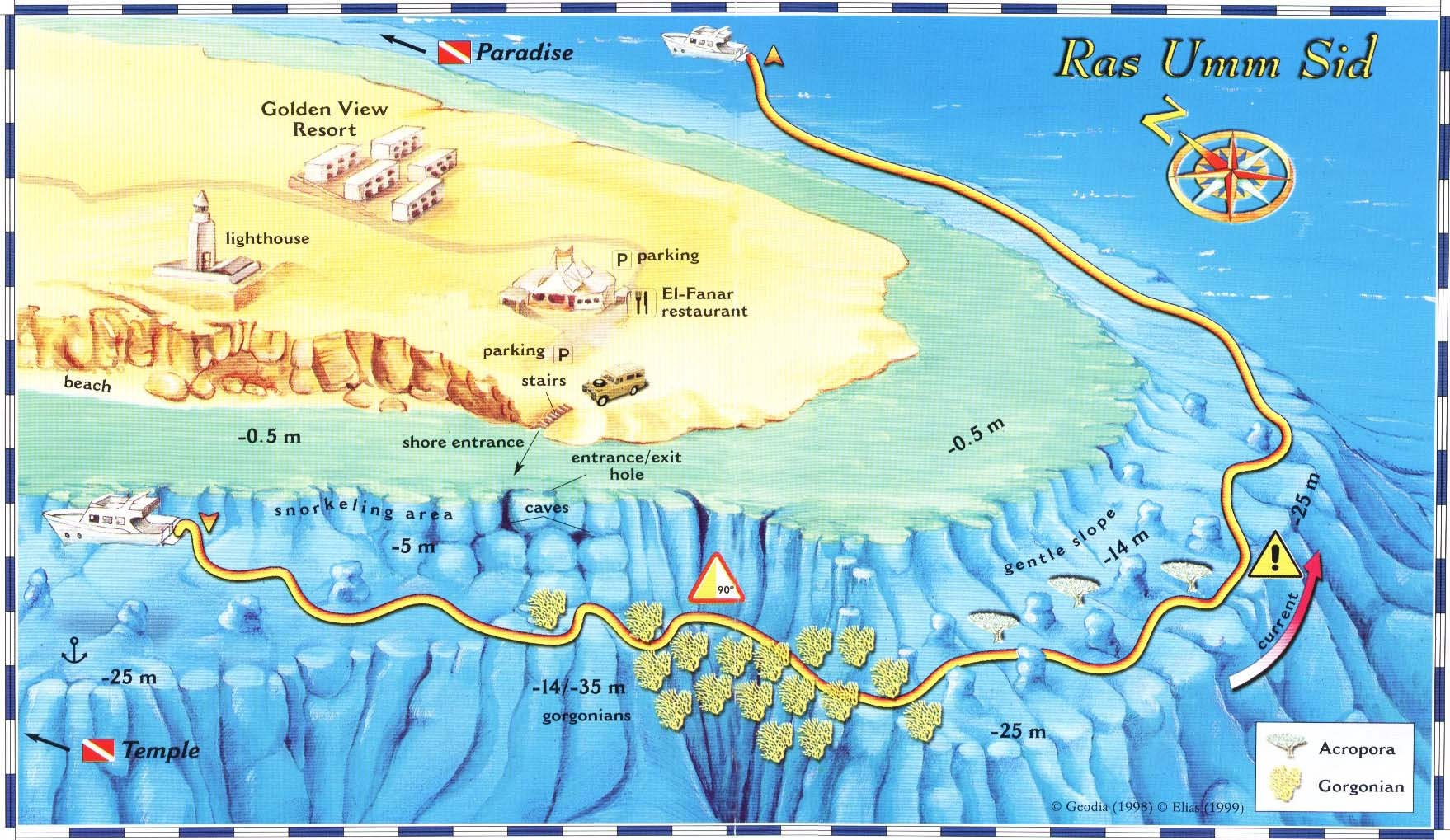 scuba dive in sharm el sheikh with  star padi diving centers in  - ras umm sidd diving site map