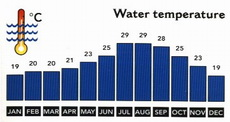 Egypt Average Monthly Water Temperatures and Wind Speed